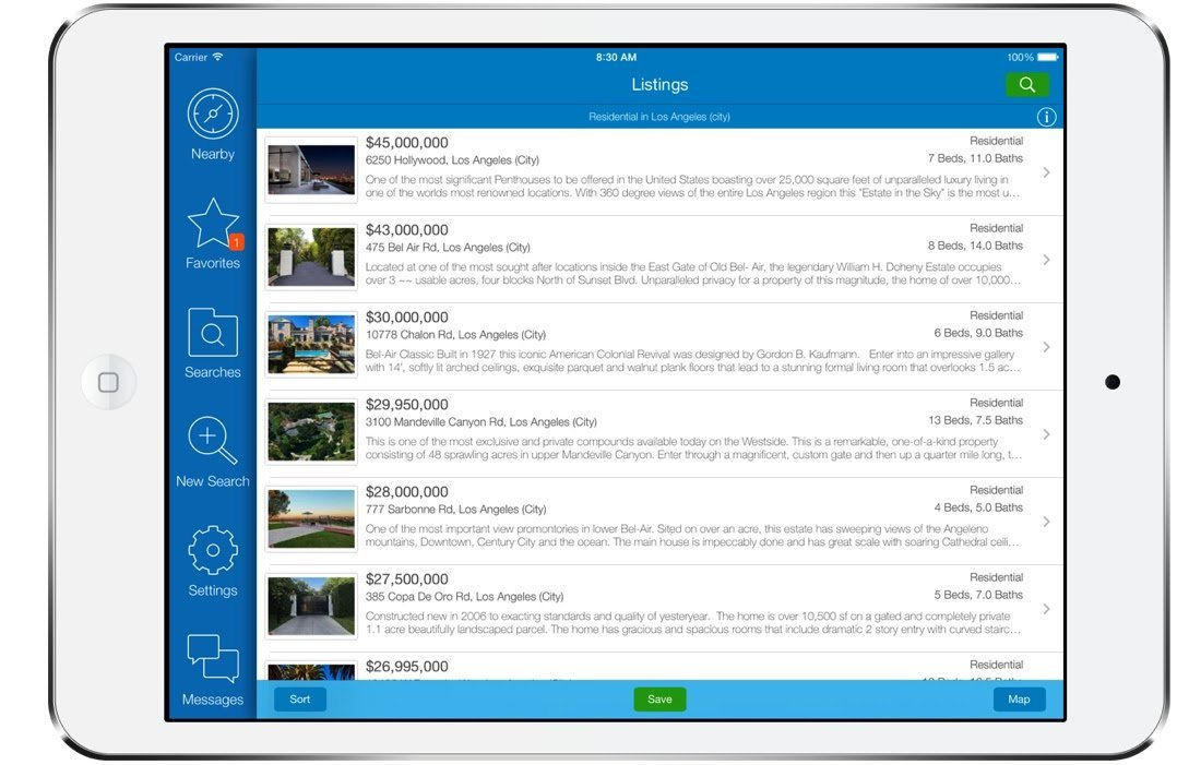 Ipad list property search